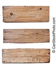 plank, achtergrond, houten, vrijstaand, oud, witte