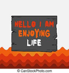 plank, lumber., spullen, foto, groeven, conceptueel, paneel, ontspannen, plank, hout, groeven, hallo, zakelijk, het tonen, schrijvende , genieten, life., het genieten van, vrolijke , tekst, levensstijl, gekleurde, eenvoudig, houten hand