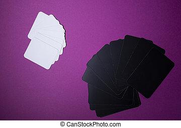 plank, ruimte, -, kaarten., kopie, roze, communie, isolated., achtergrond., spelen