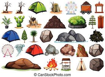 plant, buiten, natuur, themed, verzameling, voorwerpen, communie