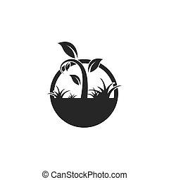 plant, vector, pictogram, illustratie