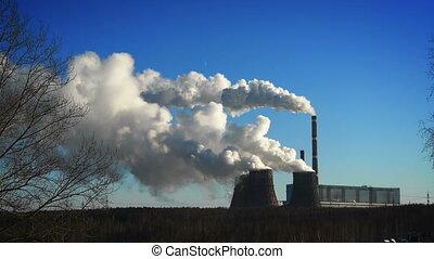 plant, winter, macht, coal-burning