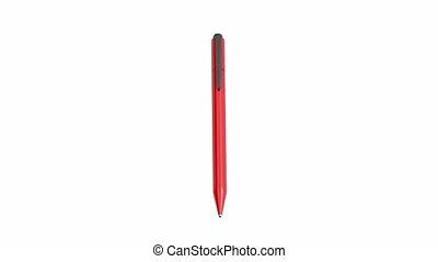 plastic, pen, rood