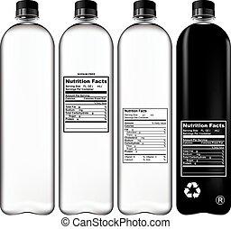 plastice fles, set