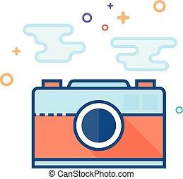 plat, afbeelding, formaat, kleur, -, bestand, pictogram
