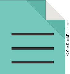 plat, formaat, tekst, -, bestand, pictogram