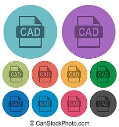 plat, iconen, kleur, formaat, bestand, donkerder, cad