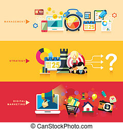 plat, marketing, strategie, ontwerp, digitale , management