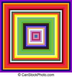 plein, kleurrijke, abstract, achtergrond., afnemen, lijstjes, grootte