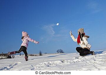 plezier, vakantie, winter