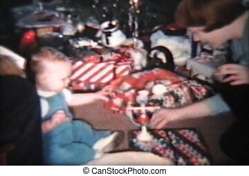 plezier, vintage), kerstmis, (1963, dag