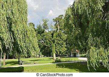 polen, groene, parken