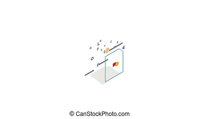 polis, verzekering, animatie, pictogram