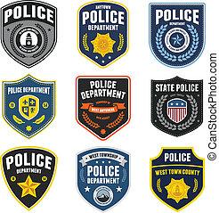politie, patches