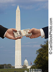 politiek, &, geld