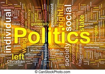 politiek, gloeiend, concept, achtergrond, sociaal