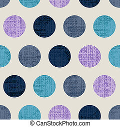polka, seamless, kleurrijke, textured