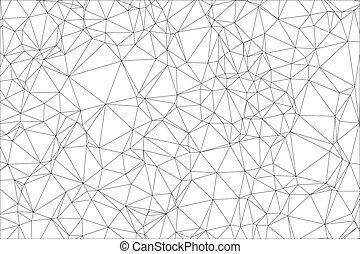 polygon., witte , zwarte achtergrond