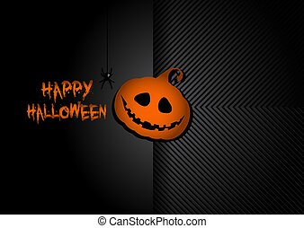 pompoen, dommekracht, achtergrond, o, hallowen, lantaarntje