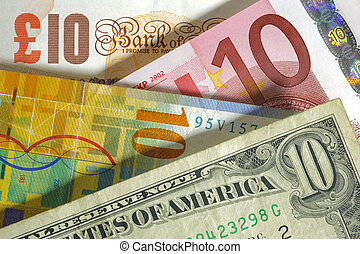 pond, engeland, frank, usa, valuta, dollar, eurobiljet, europa, zwitsers