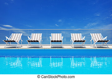 pool, luxe, zwemmen