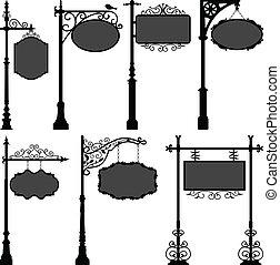 pool, straat, signage, frame, meldingsbord