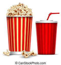 popcorn, drank