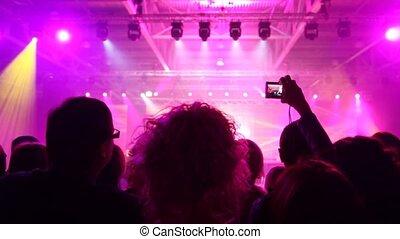 populair, blik, muziek concert, mensen