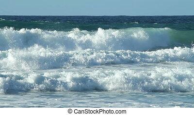 porthtowan, water, witte , branding, waves.