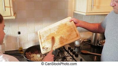 portie papa, het koken