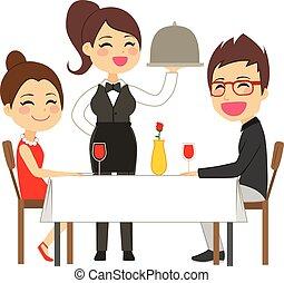 portie, waitress, restaurant
