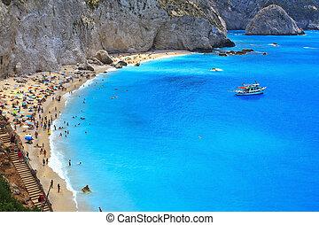 porto, katsiki, strand, griekenland