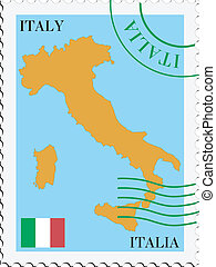 post, italië, to/from