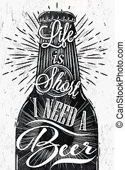 poster, bier, ouderwetse