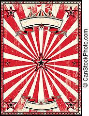 poster, circus, retro, rood