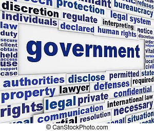 poster, concept, regering