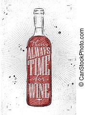 poster, tijd, wijntje