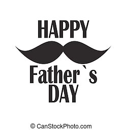 poster, vader, illustratie, vector, dag, kaart, vrolijke