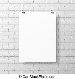 poster, witte , leeg