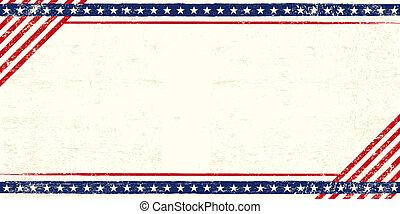 postkaart, amerikaan, grunge