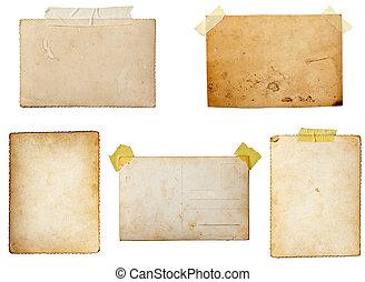 postkaart, oud, foto