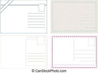postkaart, vectors