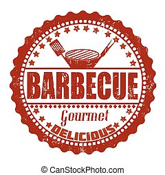 postzegel, barbecue
