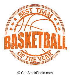 postzegel, basketbal