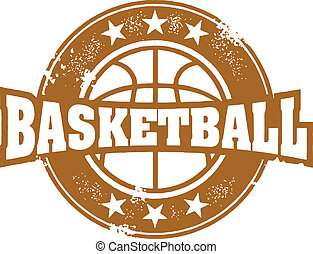 postzegel, basketbal, sportende