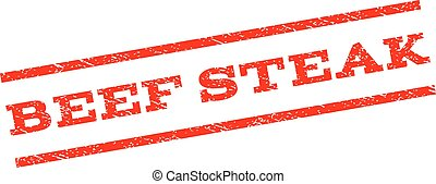 postzegel, biefstuk, rundvlees, watermark