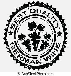 postzegel, duitser, wijntje