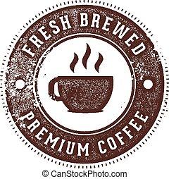 postzegel, fris, koffie