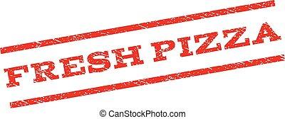 postzegel, fris, pizza, watermark
