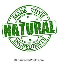 postzegel, gemaakt, natuurlijke , ingredienten